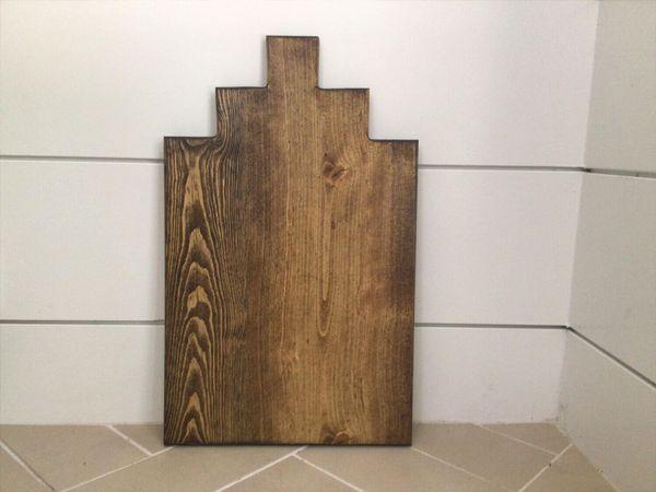 A unique handcrafted charcuterie board.