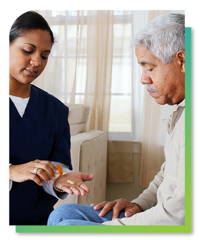Image of a patient receiving medication