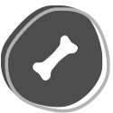icon of a bone