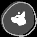 icon of a dog head