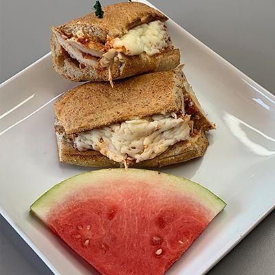 sandwich with watermelon add on