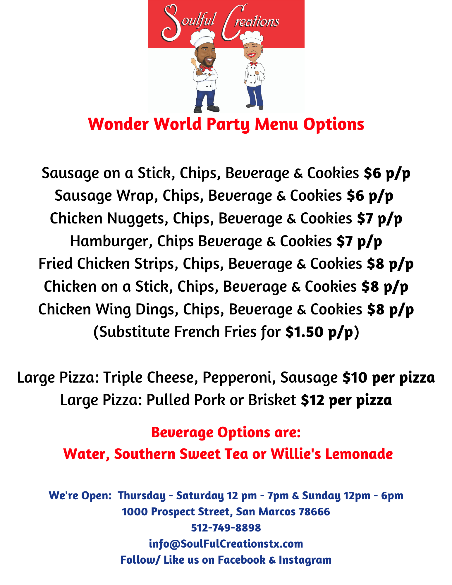 SoulFul Creations Party Options Menu.png