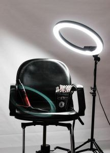 Salon chair and tools