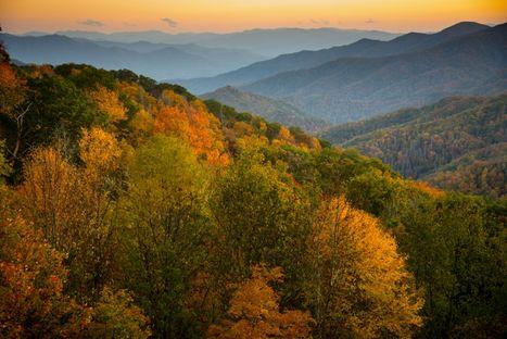 Mountain range fall
