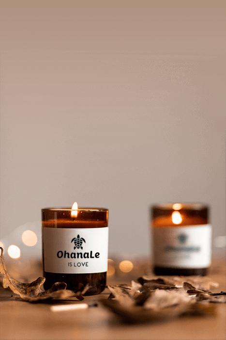 ohanale candles burning