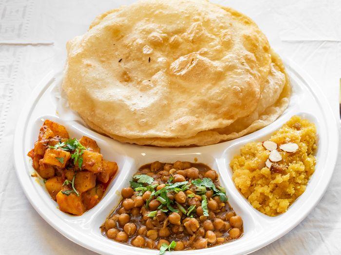 Desi Breakfast Club offers Halwa Puri