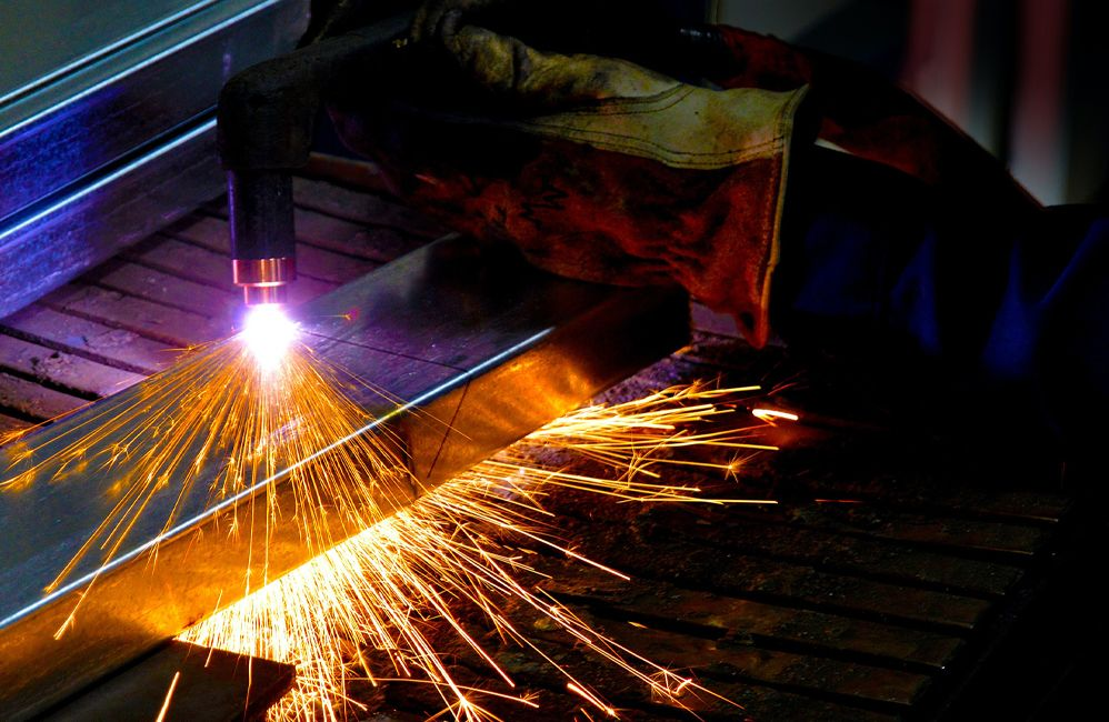 welding iron sparks