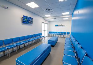 A modern South Howell dental office waiting room