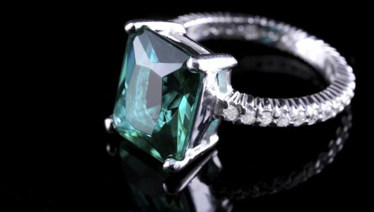 Close-up of emerald ring