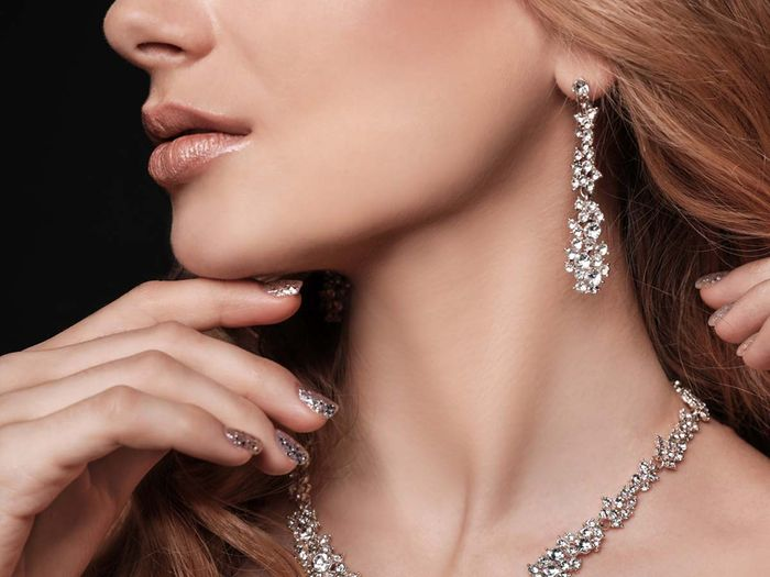 woman with a beautiful diamond necklace