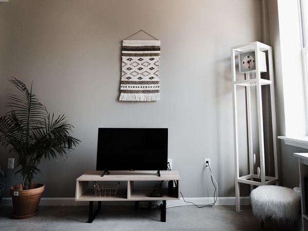 Hip living room area