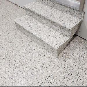 Chip seal concrete stairs