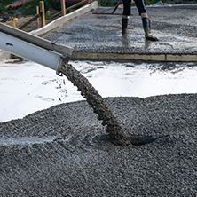 Fresh poured concrete