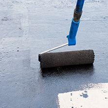 Paint roller on concrete