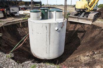 Large Septic Tank Installation