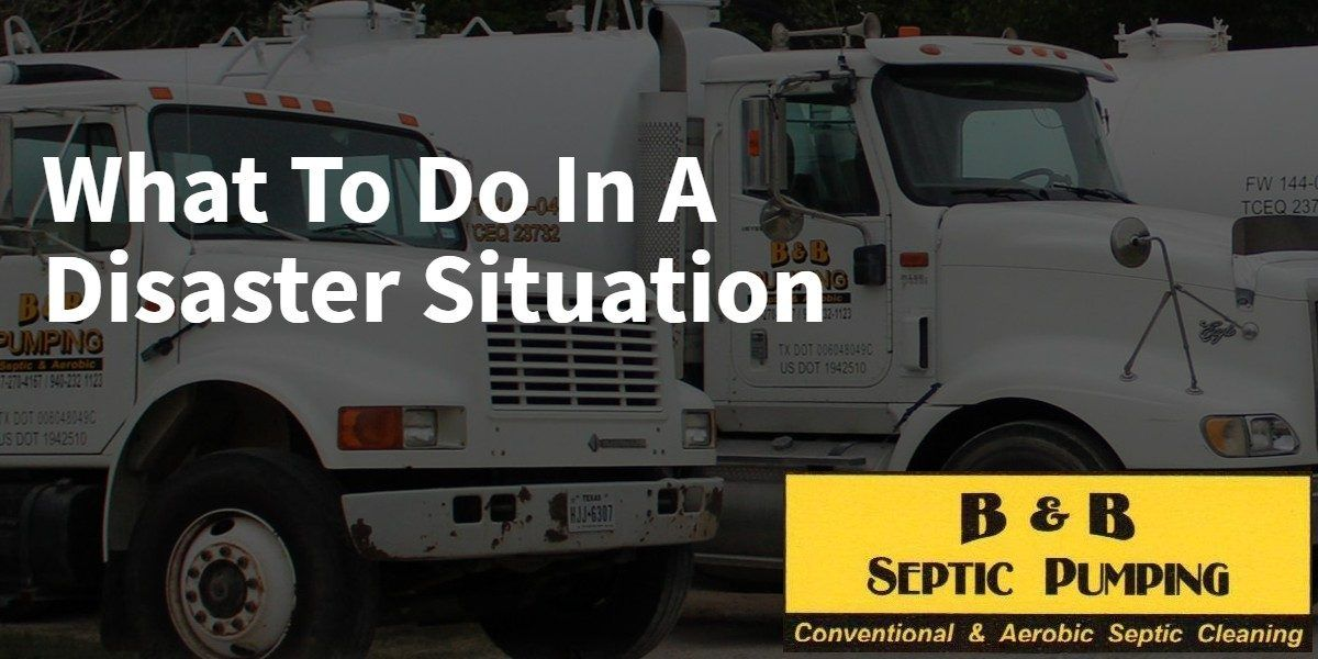 What to Do in a Disaster