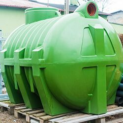 Large Green Septic Tank