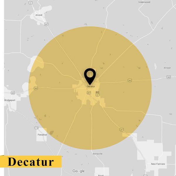 Service Area Map of Decatur