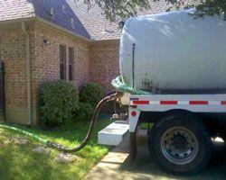 B & B Pumping Septic Pump Truck Performing Pumping