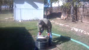Opening a Septic Tank Access