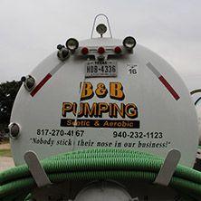 A B & B Pumping Septic Pump Truck