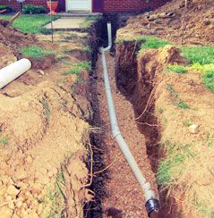 Buried Septic Pipe