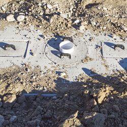 Buried Septic Tank Closeup