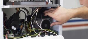 Fixing heater wires