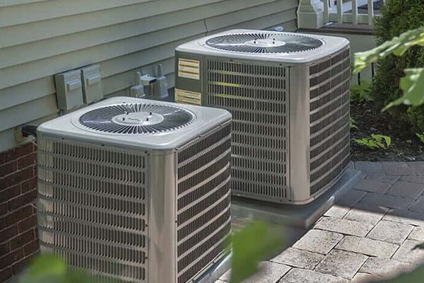 two outdoor AC units