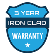 3 Year Ironclad Warranty