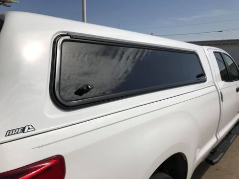 Topper on truck bed