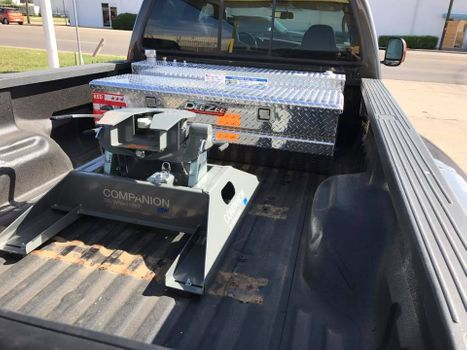 Truck with hitch in the bed