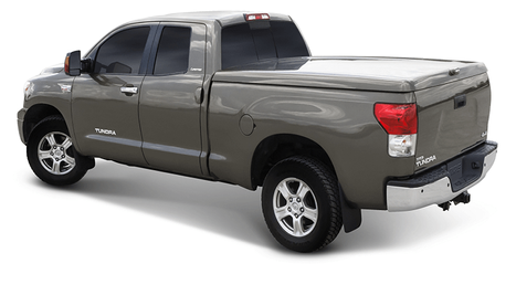 Gray truck with bed cover