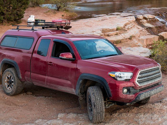 A pickup parked in Utah desert