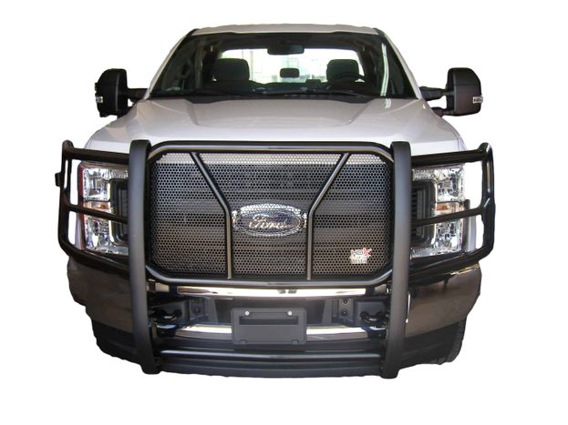 Aftermarket grill guard on truck