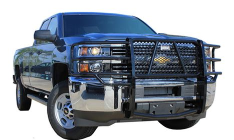 Truck with grill guard
