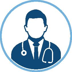male doctor profile