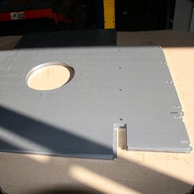 laser cut metal component