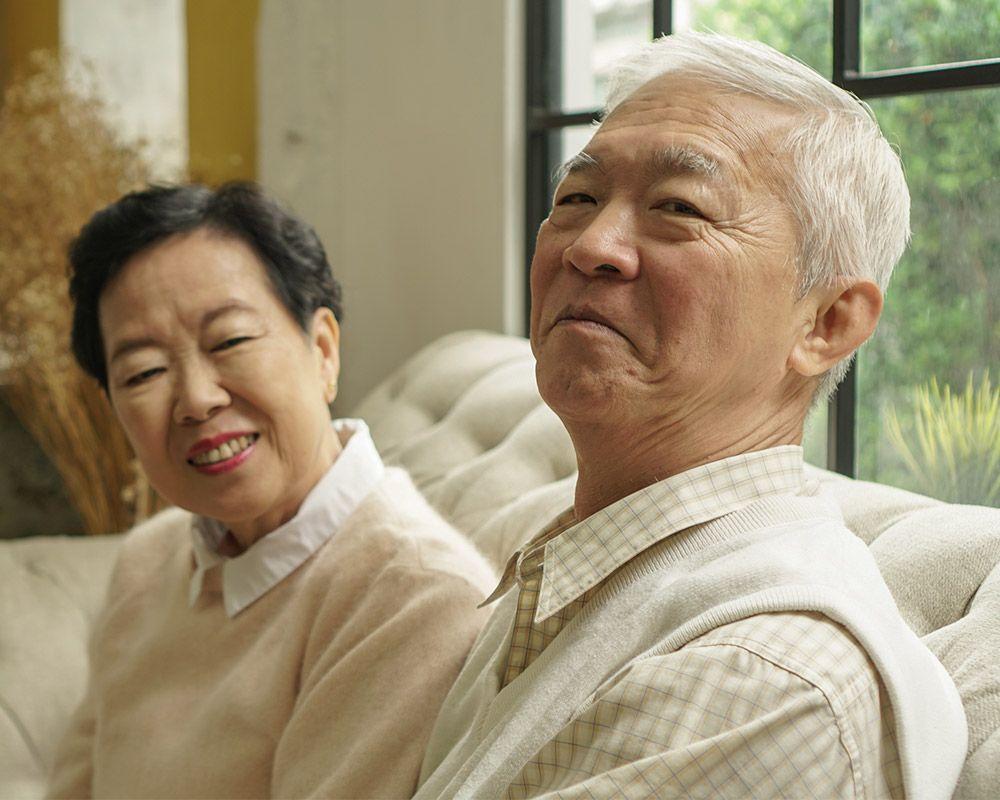 Photo of an elderly couple