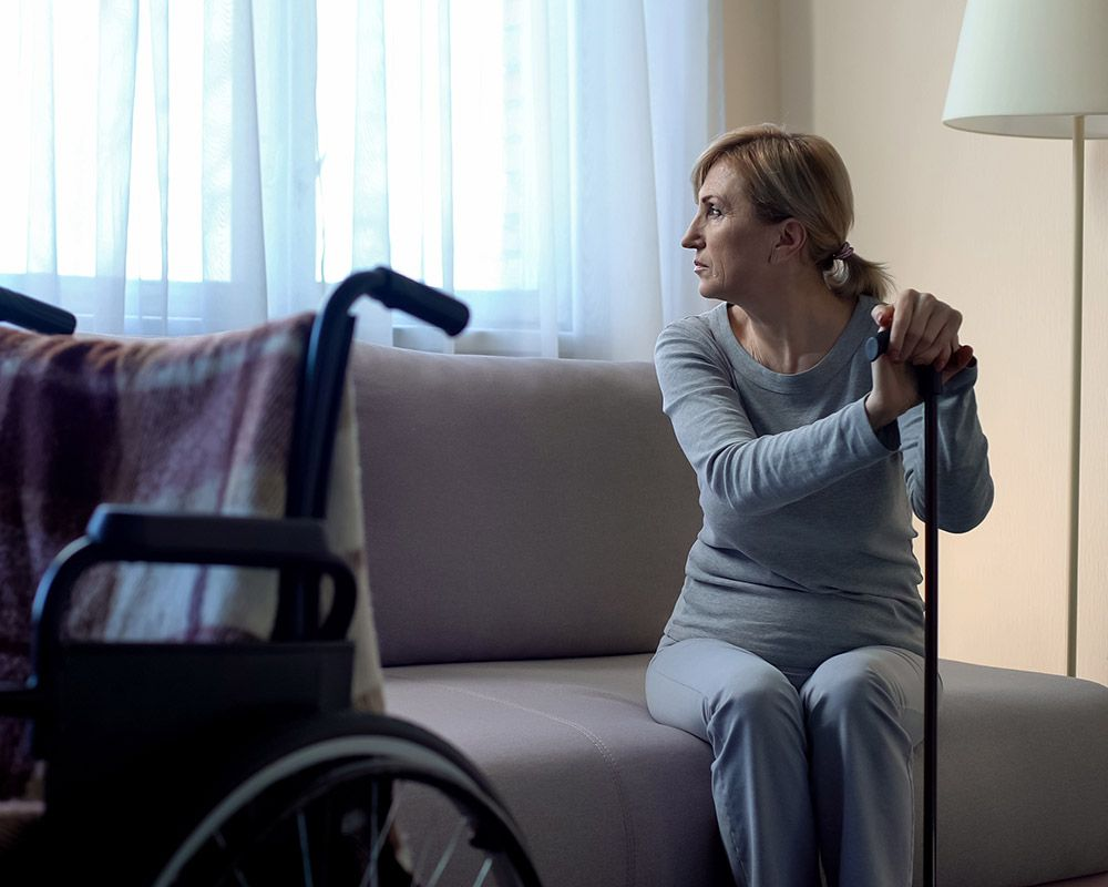 Photo of a woman with a disability