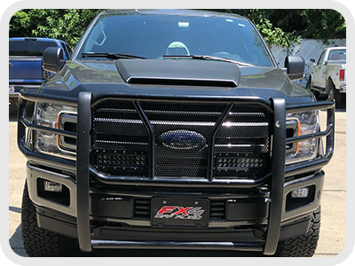 pickup truck with grill accessories