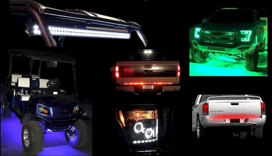 custom light bar headlights