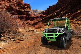 atv in canyon