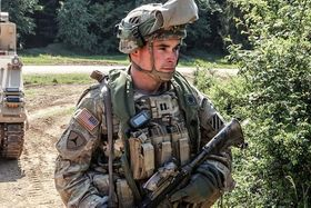 soldier in field