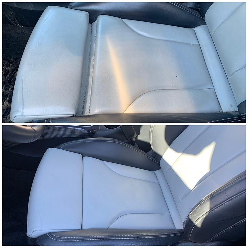 Leather seats before and after