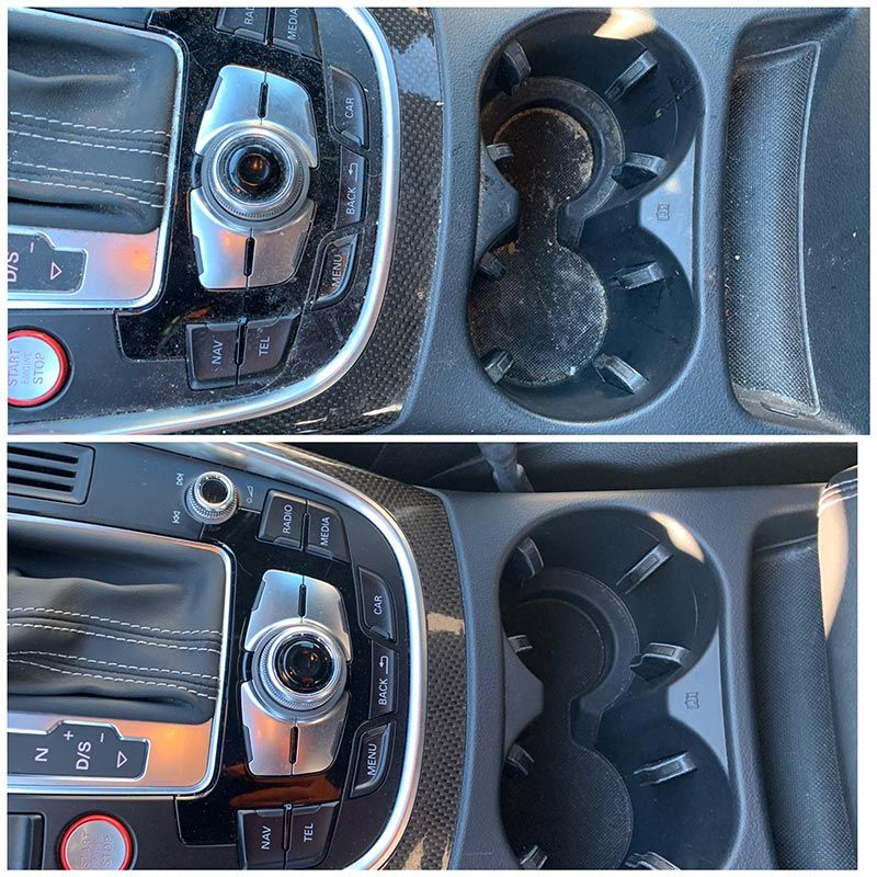 Cup holders before and after
