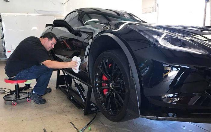 C7 Corvette Paint correction and  Ceramic Coating
