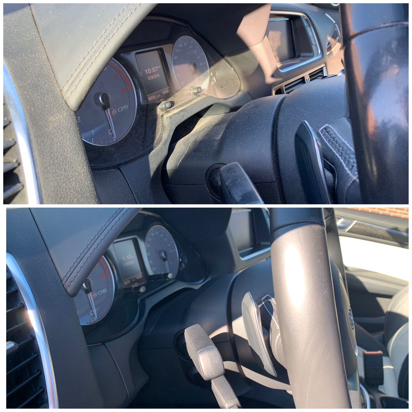 Audi SQ5 before and after interior