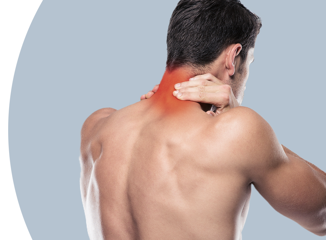 male grabbing neck in pain img