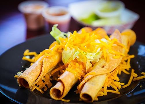 3 Rolled Tacos with Cheese